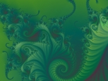 Digital Art - Fractals - Green Swirl