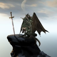 Digital Art - Landscapes - The Sword in the Stone