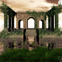 Digital Art - Landscapes - Temple of Vines