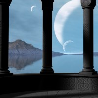 Digital Art - Landscapes - The Hall of Heroes