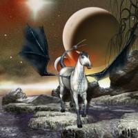 Digital Art - Landscapes - Dragonhorse
