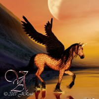 Digital Art - Landscapes - Unicorn